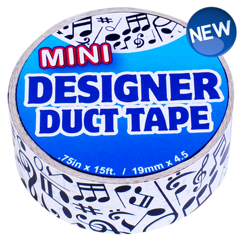 Mini Designer Duct Tape Music Notes