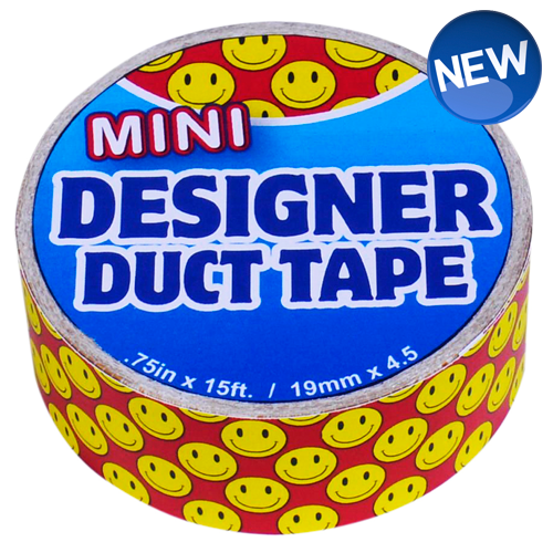 Mini Designer Duct Tape Smiley Face