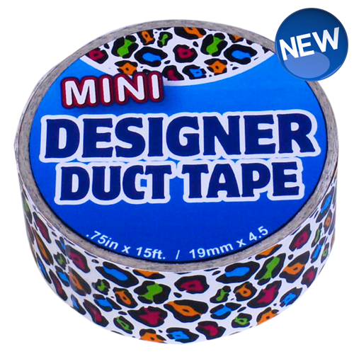 Mini Designer Duct Tape Rainbow Leopard
