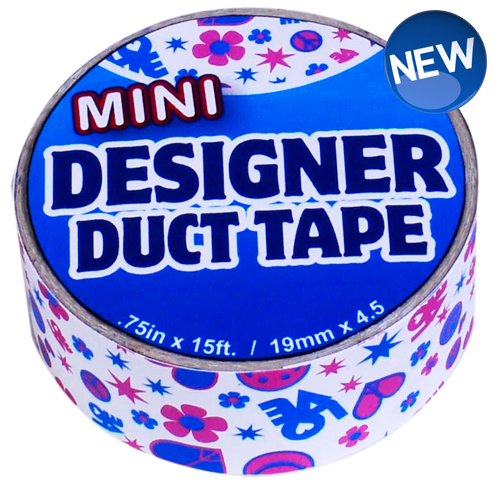 Mini Designer Duct Tape Peace & Love