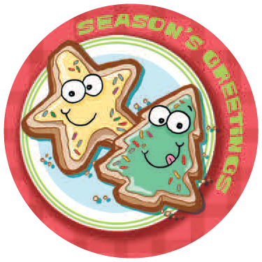 Dr. Stinky's Holiday Sticker Sugar Cookies